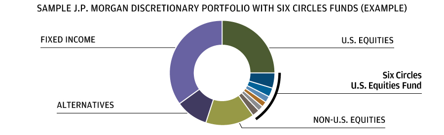 Example Chart of J.P. Morgan Discretionary Portfolios with Six Circle Funds